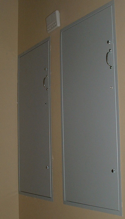 Picture of an installed Double Dumbwaiter
